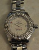 A ladies Breitling Colt Oceane Chronometer stainless steel bracelet wristwatch with a circular