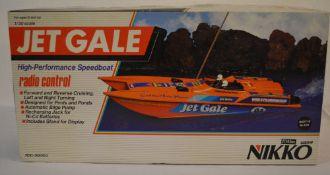 Retro Nikko Jet Gale radio controlled speedboat,