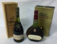 2 bottles of Janneau Grand Armagnac