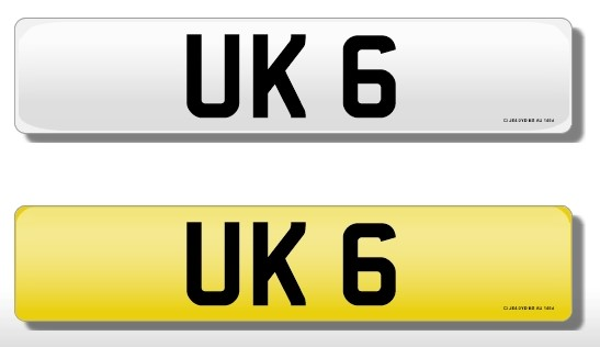 Lot 162 - Registration Plate 'UK 6' on retention. Reduced buyers premium 15.5% + VAT. SIA.