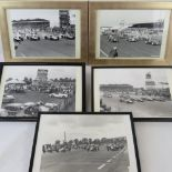 Lot 161 - Five black and white photographs of Silverstone Race Course c1950s Daily Express BRDC Mettings,