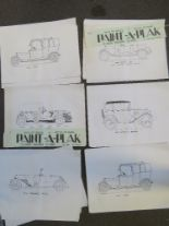 Lot 28 - A series of Flee-Wee 'Paint-A-Plak' printed colouring pictures depicting a variety of vintage cars,