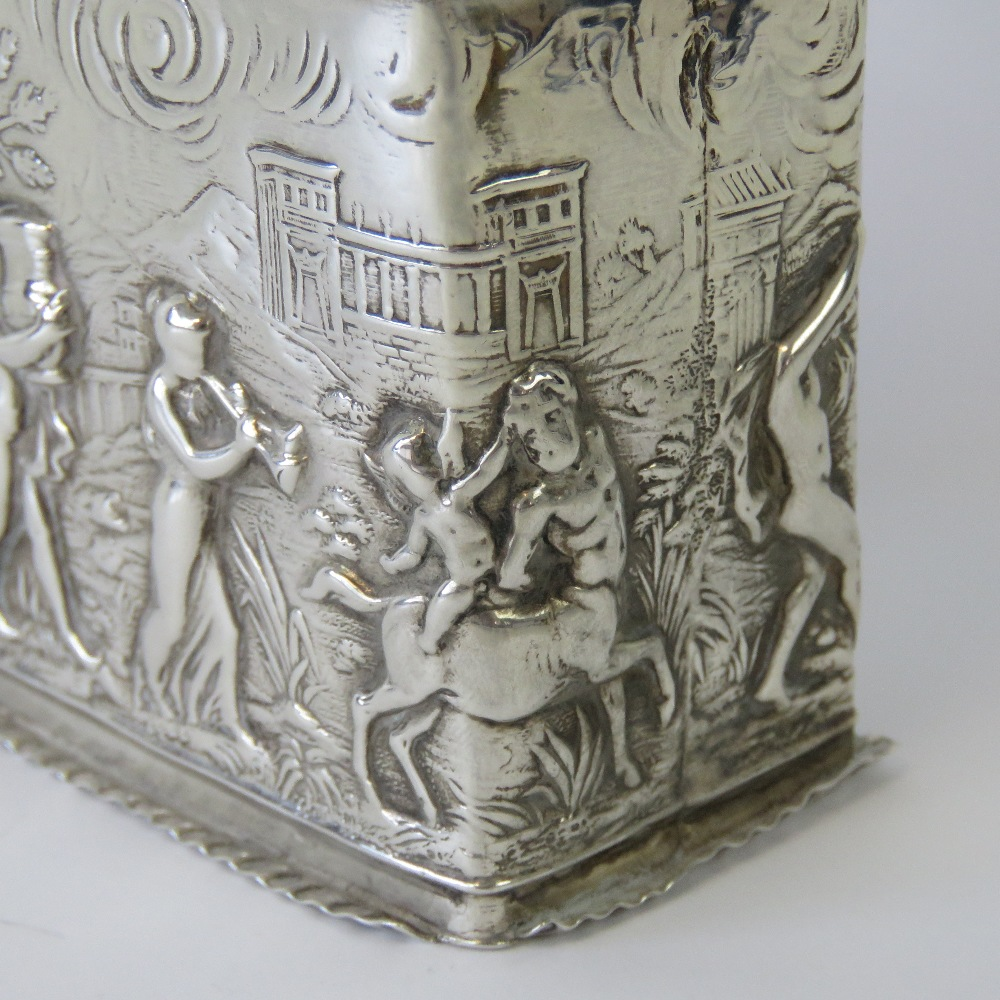 Lot 4 - A rare and unusual HM silver pot pourri in the style of a tea caddy,