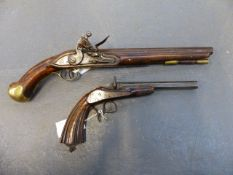 A SEA SERVICE PATTERN FLINTLOCK PISTOL OF INDETERMINATE AGE ( AS SUCH FALLS UNDER SECTION ONE OF THE