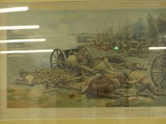 AFTER FORTUNINO MATANIA (1881-1963) L BATTERY R.H.A.A SIGNED VINTAGE COLOUR PRINT. 61 x 92 cm