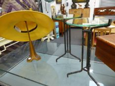 AN ART DECO HAT DISPLAY STAND AND TWO FURTHER DISPLAY STANDS.