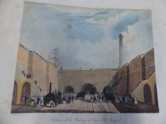 SIX COLOURED VIEWS ON THE LIVERPOOL AND MANCHESTER RAILWAY BY MR.T.T.BURY, PUBLISHED BY R.