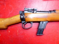 RIFLE. ARMALON LTD. 9mm BOLT ACTION CARBINE CONVERSION OF ENFIELD RIFLE. SERIAL NUMBER PF370525. (