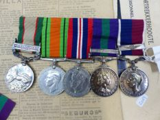 AN RAF MEDAL GROUP TO FL. SGT. J.F. STONE (565206) TO INCLUDE 39-45 DEFENCE AND WAR MEDALS ,