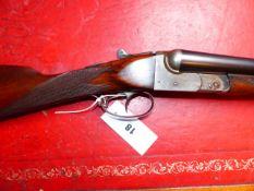 SHOTGUN. BSA 12G S/S B.L.N.E. DOUBLE TRIGGER, SERIAL NUMBER 24736. (ST.No.3301)