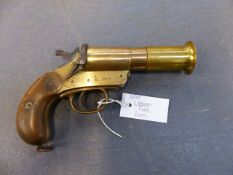 FLARE PISTOL. WEBLEY & SCOTT 1 1/4 INCH. SERIAL NUMBER 56658. FAC OR RFD CERTIFICATE REQUIRED