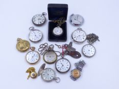 A GOOD SELECTION OF POCKET WATCHES, ETC.