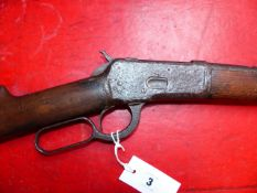 RIFLE. WINCHESTER LEVER ACTION MODEL 92. .44WCF. N.V.N. RELIC CONDITION RFD BUYERS ONLY