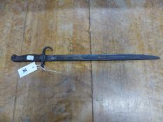 A P1907 PATTERN HOOKED QUILLON BAYONET ( NO SCABBARD)