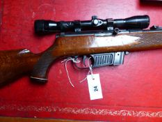 RIFLE. VOERE .22 SEMI-AUTOMATIC SERIAL NUMBER 185258 COMPLETE WITH SCOPE, (ST.NO.3272).