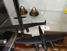 TWO RARE SILHOUETTE 1/72 SCALE AIRCRAFT RECOGNITION MODELS LABELLED - S.H SER. No52/670 HELEN