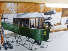 20th.C.SCHOOL. THREE STUDIES OF VINTAGE AIRCRAFT IN WATERCOLOUR. LARGEST 16.5 x 40cms.