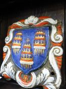 A RARE 19th.C.CAST IRON WALL PLAQUE WITH COMPANY OF WEAVERS CREST.