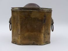A SILVER HALLMARKED OCTAGONAL FORM TEA CADDY, DATED 1909 SHEFFIELD MAKERS MARK MARTIN,HALL & CO.