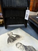 A 19th.C.SCRAP ALBUM CONTAINING NUMEROUS PORTRAIT AND OTHER ENGRAVINGS TOGETHER WITH A SET OF