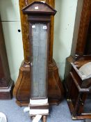 A DUTCH BAROMETER CASE WITH SILVERED SCALE.