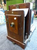 A 19th.C.MAGIC LANTERN TYPE PHOTOGRAPHIC ENLARGER FORMERLY IN THE STUDIO OF THOMAS RODGER AT ST.