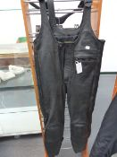 A PAIR OF 1xS MOTORCYCLE LEATHER BIB TROUSERS, SIZE 50?