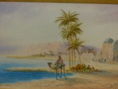 ANTON PUCIYNI (?) (LATE 19th/EARLY 20th.C.) ON THE NILE AND RUINS NEAR TUNIS, SIGNED AND TITLED