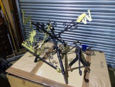 A LARGE WROUGHT IRON WEATHER OR WIND VANE.