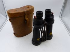 TWO PAIRS OF ROSS BINO PRISM BINOCULARS, A PAIR BY BAR & STROUD AND ONE FURTHER PAIR. (4)
