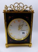A VINTAGE LUXOR MANTLE CLOCK WITH 8-DAY MOVEMENT, THE REAR OF THE CASE WITH INSCRIPTION, EDWARD