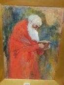 DAVID WOODLOCK (1842-1929) AN OFFERTORIAN, GOOD FRIDAY, 1894, SAN MARCO, VENICE, SIGNED AND TITLED