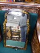 AN ANTIQUE GEORGIAN STYLE CHINOISSERIE LACQUER EASEL BACK MIRROR. H.55cms.