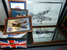 A COLLECTION OF RAF AND AVIATION RELATED PRINTS, PHOTOGRAPHS, CALENDARS AND OTHER EPHEMERA. (QTY)