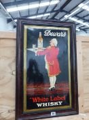 A DEWARS WHITE LABEL WHISKEY ADVERTISING SIGN. 42 x 66cms.