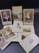A GROUP OF SEVEN PHOTOGRAPHS OF THE ACTRESS ELLEN TERRY, SOME INSCRIBED TOGETHER WITH A SMALL RED