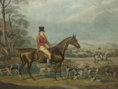 TWO FOLIO COLOUR SPORTING PRINTS, JOHN MYTTON ESQUIRE, HALSTON SALOP TOGETHER WITH FOX HUNTING AFTER