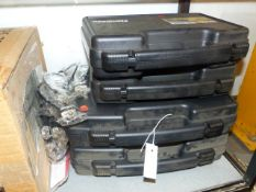 FOUR NOS PISTOL BOXES, A QTY OF AIRGUN SECURITY LOCKS AND FOUR TREE MOUNT HUNTING SEATS. (QTY)