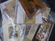 A COLLECTION OF INDO PERSIAN ILLUMINATED MANUSCRIPT LEAVES TO INCLUDE PORTRAITS, HUNTING SCENES,ETC,