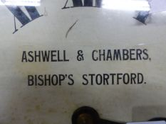 """A 19th.C.WALL CLOCK WITH SINGLE FUSEE MOVEMENT, 12"""" PAINTED DIAL SIGNEDASHWELLL & CHAMBERS,"""