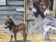 DAVID SHEPHERD. (1931-2017) SHELTIES AND HAPPY HOME FOR DONKEYS, TWO PENCIL SIGNED AND NUMBERED