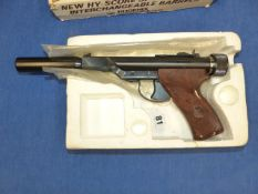 A PHOENIX ARMS HY-SCORE AIR PISTOL COMPLETE WITH ORIGINAL BOX.