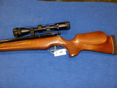A DAYSTATE HUNTSMAN SWP2000 PRE-CHARGE AIR RIFLE, SERIAL No.HS0518 FITTED WITH APOLLO 3-9 x 40