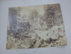 FOUR VINTAGE CABINET PHOTOGRAPHS OF CONTINENTAL SCENERY, ALL INSCRIBED AND SOME SIGNED TOGETHER WITH