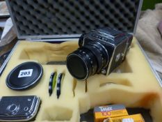 A KIEV 80 PROFESSIONAL CAMERA WITH VEGA 128 2.8/90 LENS AND A RUSSIAN MNP 268 3.5.45 LENS, VARIOUS