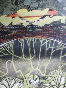 SYLVIA WORTHINGTON. 20th/21st.C. ARR. THE MOON IN HER SHROUD, PENCIL SIGNED ARTIST'S PROOF COLOUR