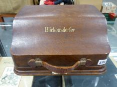A RARE BLICKENSDERFER No7 TYPEWRITER CONTAINED IN ORIGINAL WOODEN CASE.