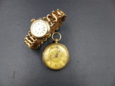 A VICTORIAN 18ct GOLD LADIES FOB WATCH ENGRAVED ON MOVEMENT WALFORD & SON, BANBURY & OXFORD, 10412
