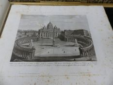 AN EARLY 19th.C.FOLIO BOUND ALBUM OF THIRTY TWO ENGRAVINGS OF ROMAN VIEWS, APPARENTLY PUBLISHED BY
