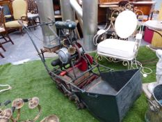 "A RARE EARLY 20th.C.ATCO ""STANDARD"" CHARLES H. PUGH LTD, BIRMINGHAM MOTOR MOWER C.1922 WITH"